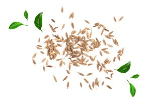 Cumin seeds or caraway decorated