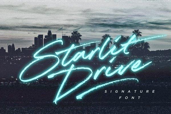 Fonts: Sam Parrett - Starlit Drive Signature Font