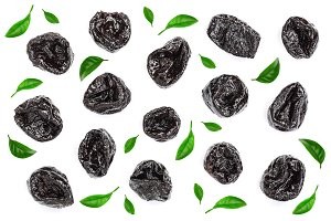 Dried plum - prunes decorated with