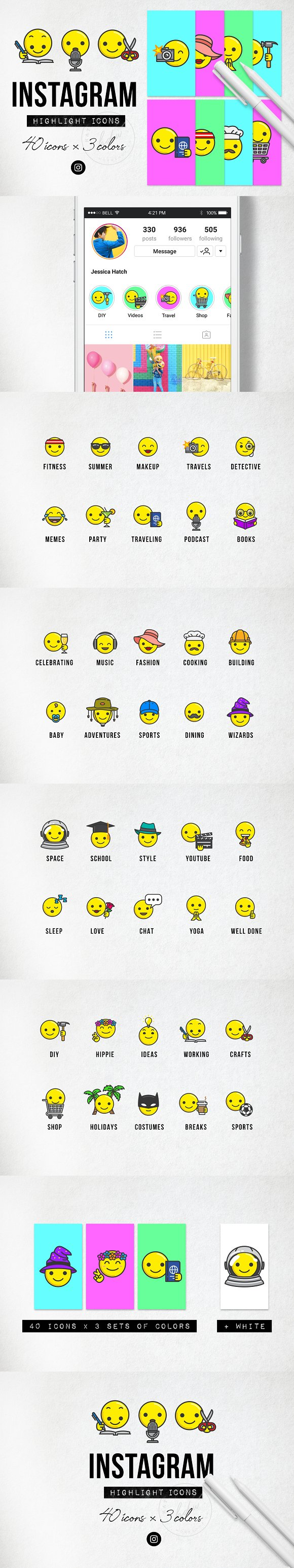 Emoji Instagram Highlight Icons