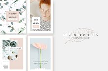 Magnolia Vertical PowerPoint by  in Presentations