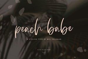 Peach Babe Hand Lettered Brush Font