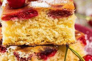 Breakfast Cherry Cake