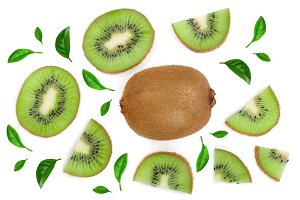 sliced kiwi fruit decorated with