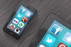 Social media on ipad and iphone
