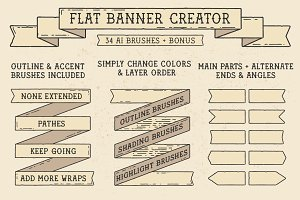 Flat Banner Creator for Illustrator