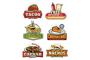 Fast food with snack and desserts