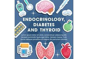 Endocrinology medicine poster