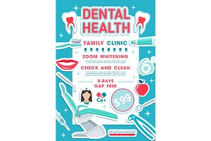 Dental health banner design