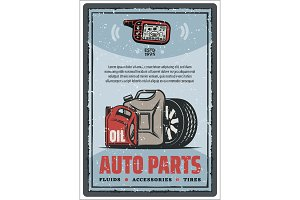 Auto parts shop and tire store