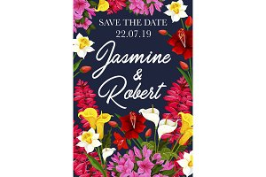 Wedding save the date banner