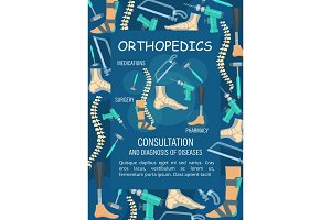 Orthopedics banner, bone and joint