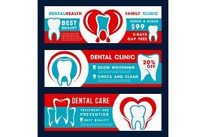 Dental clinic dentistry banner
