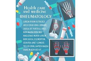 Rheumatology poster with bone, x-ray