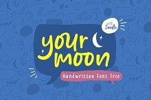 Your Moon - Fun Fonts Collection! by  in Display Fonts