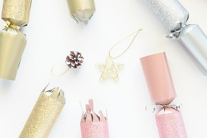 Pink Gold Silver Christmas Cracker 2