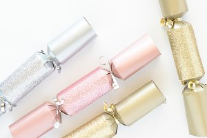 Pink Gold Silver Christmas Cracker 3