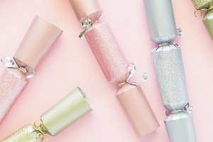 Pink Gold Silver Christmas Cracker 4