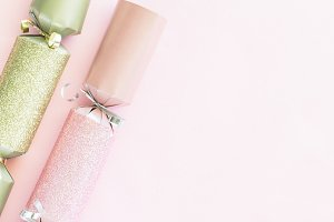 Pink Gold Silver Christmas Cracker 5