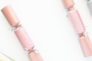 Pink Gold Silver Christmas Cracker 6