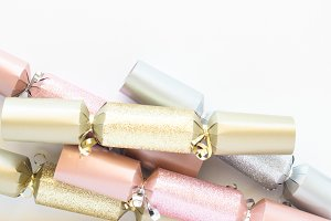 Pink Gold Silver Christmas Cracker 7