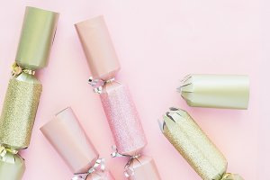 Pink Gold Silver Christmas Cracker 8