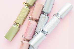 Pink Gold Silver Christmas Cracker 9