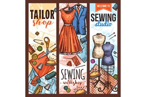 Atelier, tailoring and sewing