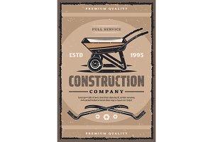Construction vintage banner
