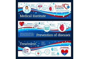 Cardiology clinic banners