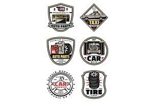 Car repair and service garage icons