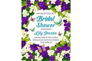 Bridal shower wedding invitation