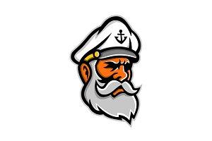 Seadog Sea Captain Head Mascot