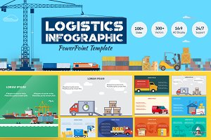 Logistics PowerPoint Infographic Set