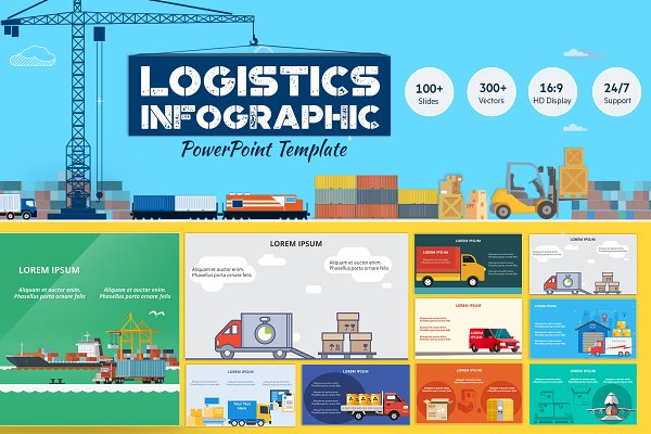 Logistics PowerPoint Infographic Se…