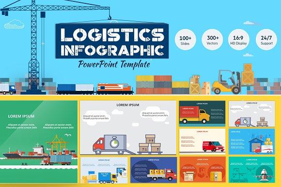 Logistics Powerpoint Infographic Set Presentation Templates