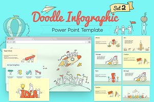 PowerPoint Doodle Infographic Set 2