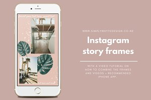 Instagram story frame template+video