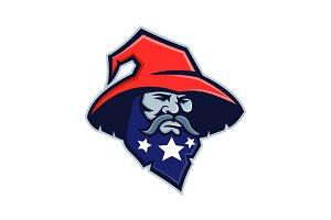Warlock Stars on Beard Mascot