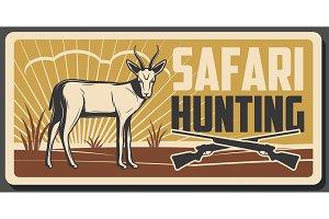 Safari hunting banner