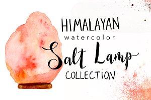 Watercolor Salt Lamp Collection