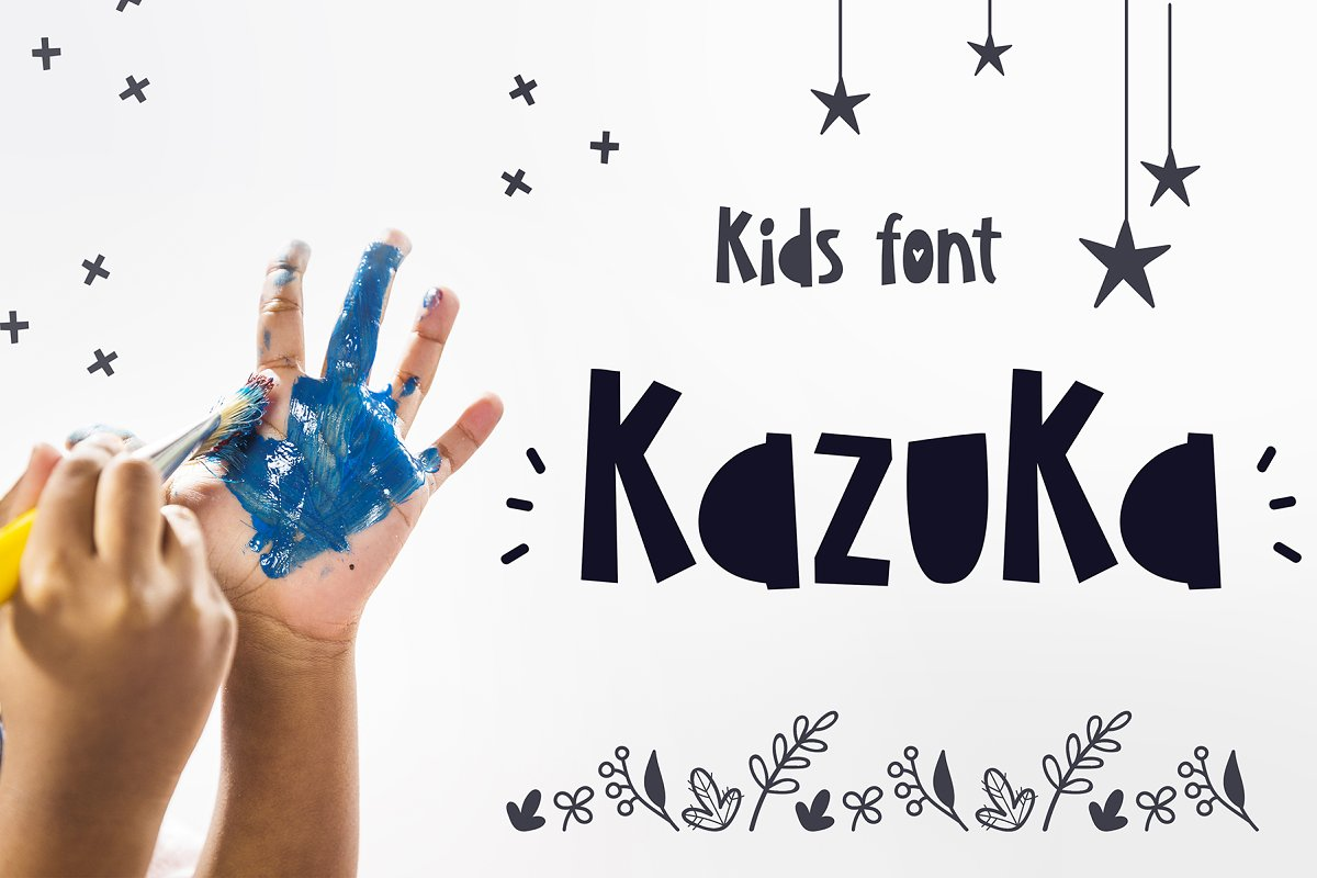 KazuKa Kids Font in Display Fonts - product preview 8