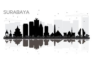 Surabaya Indonesia City skyline