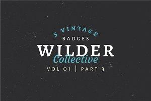 5 Vintage Badge Logos Vol 01 Part 3