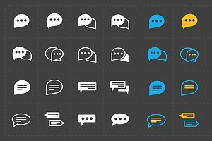 New Speech bubble icons