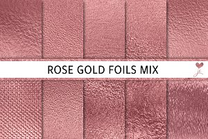 Rose Gold Foils Mix