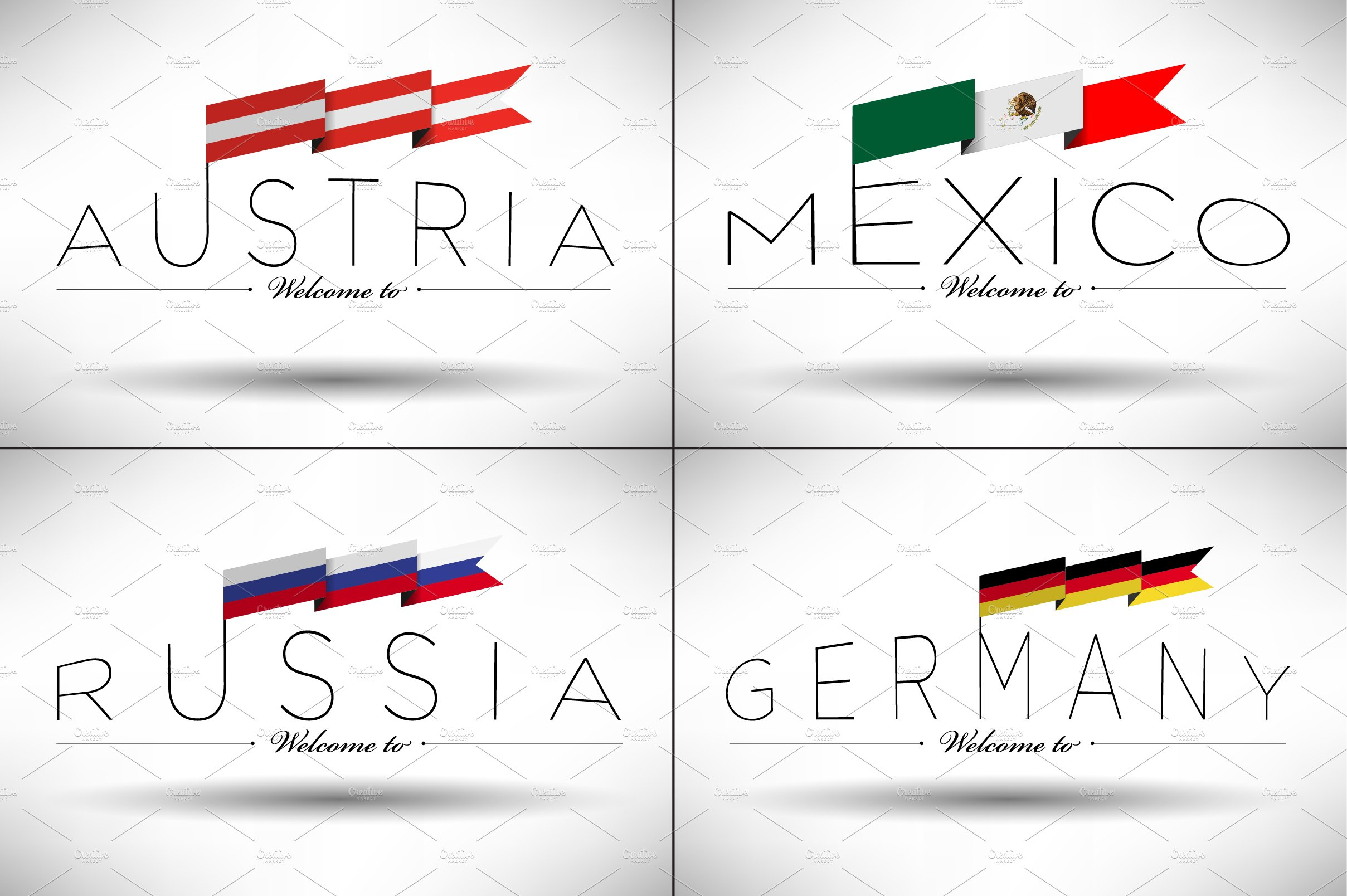 40 World Flags With Country Names ~ Graphics ~ Creative Market