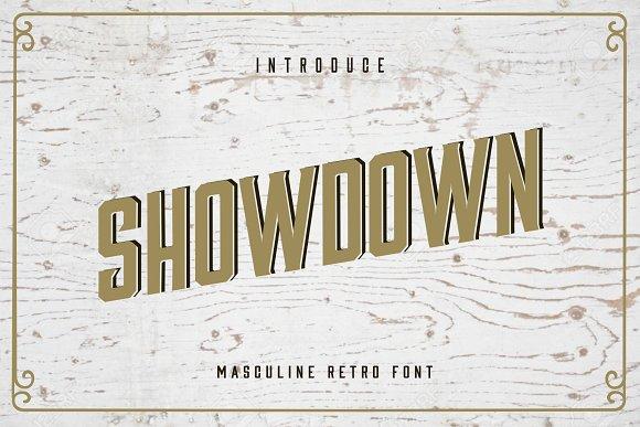 Showdown Retro Font