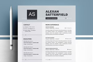 Apple Pages Resume / CV Template