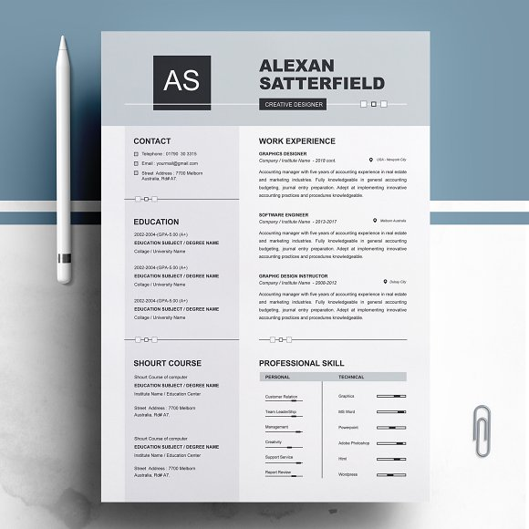 apple pages resume cv template resume templates creative market